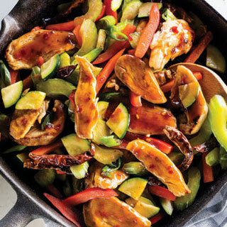 Kung Pao Chicken with Chile Soy Sauce & Peanuts