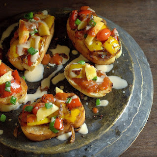 Bruschetta with Gouda & Cherry Tomatoes!