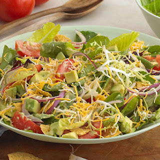 Chopped Salad with Tortilla Chips and Avocado Dressing Recipe
