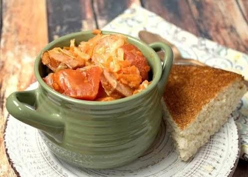 Comforting Cabbage Sausage Stew