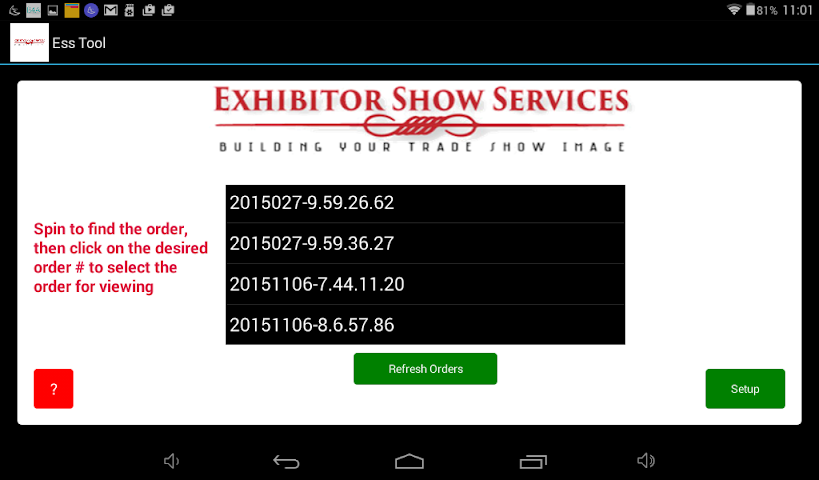 android Exhibitor Show Services Tool Screenshot 2