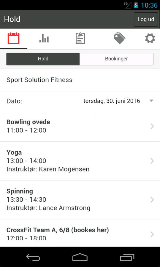 Sport Solution Booking – screenshot