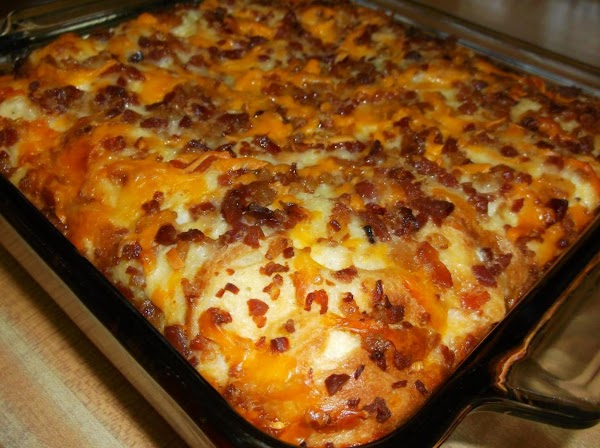 Preheat oven to 350ºF. Bake, uncovered, for 1 hour. Casserole should be puffy and...