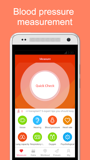 iCare Health Monitor (BP & HR) Fitness app screenshot 1 for Android