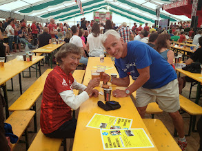 Photo: Post race party with Sister Madonna Buder