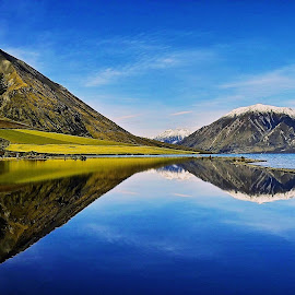 Reflections!! by Rafi SM - Landscapes Mountains & Hills ( mountains, reflection, blue sky, nature, lake )