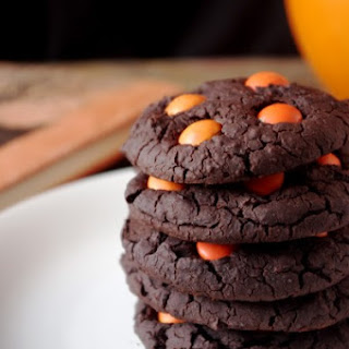 Soft & Chewy Chocolate Halloween Cookies