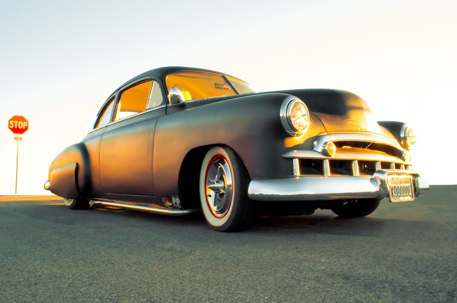 Primed and Ready by Boyd Smith - Transportation Automobiles ( primer paint, old car, white walls, chevy, custom car )