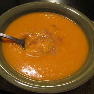 Butternut Pumpkin and Carrot Soup.