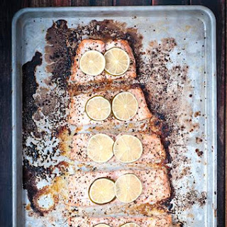 Cracked Peppercorn and Lime Baked Salmon in Under 30 Minutes Recipe