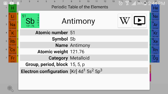 Periodic table chemistry elements 2018 android apps on google play periodic table chemistry elements 2018 screenshot thumbnail urtaz Images