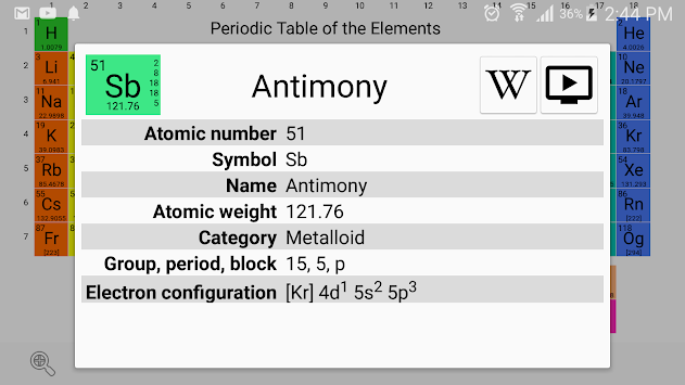 Download periodic table chemistry elements 2018 apk latest version periodic table chemistry elements 2018 poster urtaz Gallery
