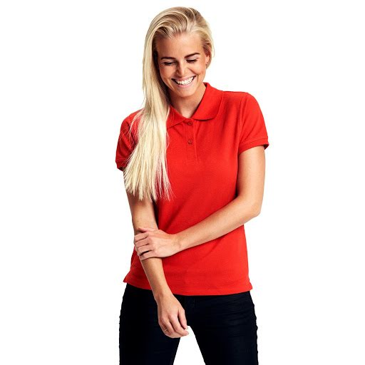 Neutral Organic White Ladies Polo shirt