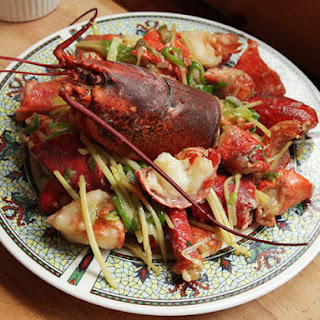 Cantonese-Style Lobster with Ginger and Scallions.