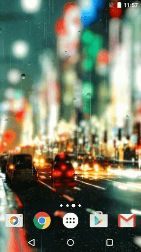 多雨的城市 動態壁紙