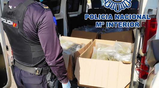 Tres detenidos con más de 30 kilos de marihuana en la carretera al Aeropuerto