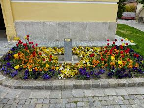 Photo: Der Blumenschmuck begrüßt die Gäste