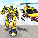 Helicopter Robot Transformation- Robot Games icon