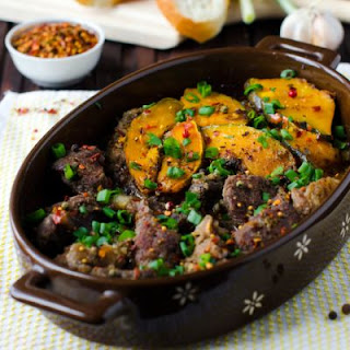 Spicy Stew Beef and Squash Casserole