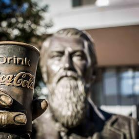 Drink up by Ronald Rivas - City,  Street & Park  Historic Districts ( coca cola, statue, atlanta )