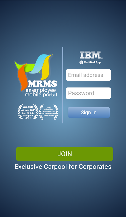 MRMS app- screenshot
