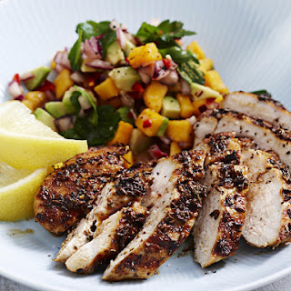 Spicy Charred Chicken with Papaya Salsa