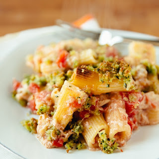 No-Boil Chicken & Tomato Pasta Bake