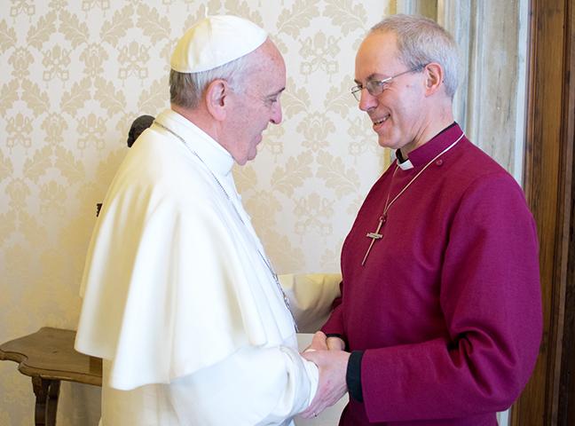 Đức Thánh Cha Phanxico ghi hình thông điệp video về cuộc điện thoại với Đức Tổng Giám mục Canterbury