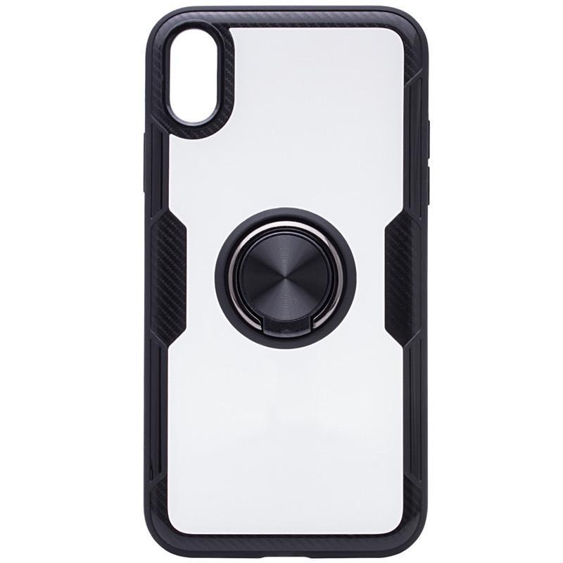 Картинки по запросу TPU+PC чехол Deen CrystalRing под магнитный держатель для Apple iPhone XS Max (6.5