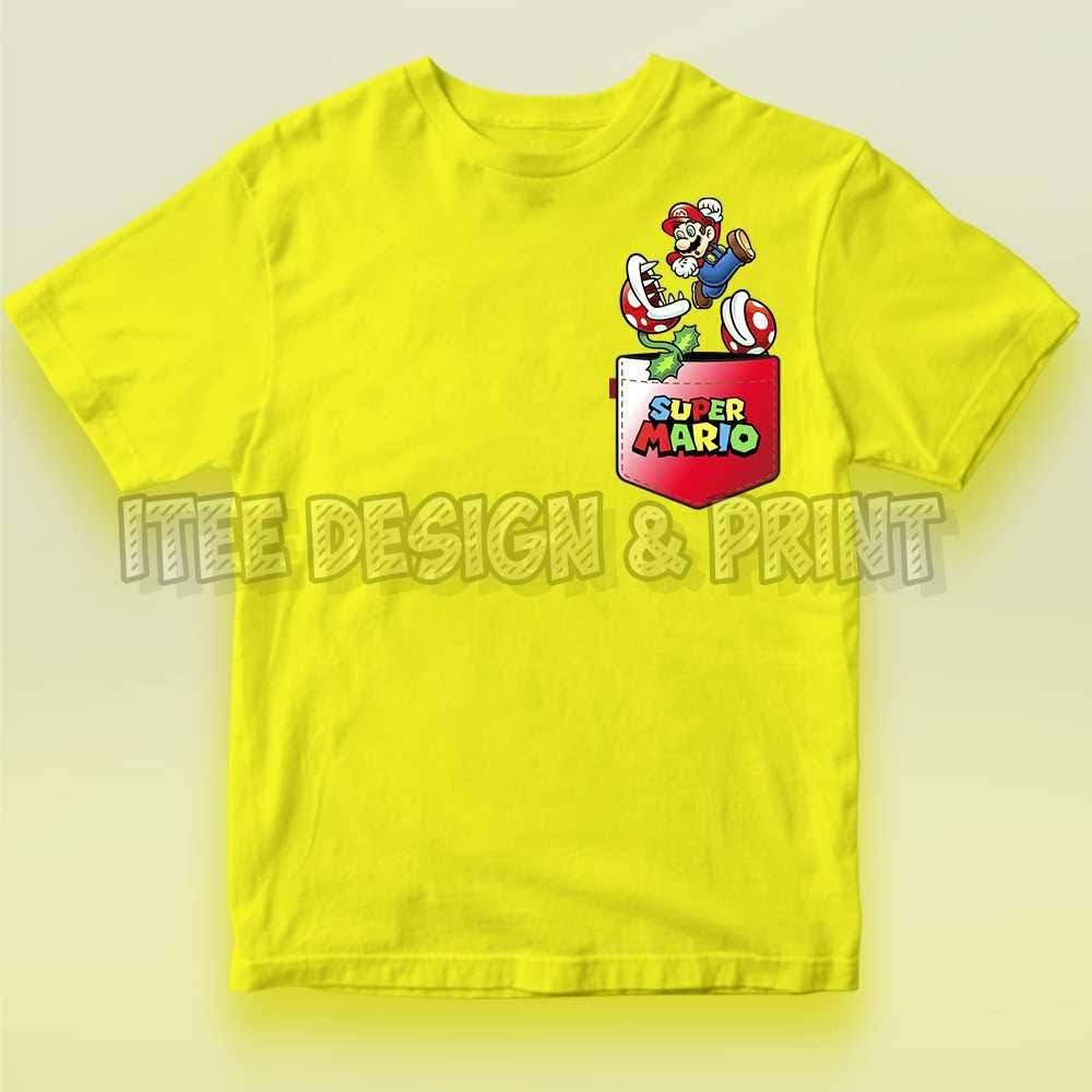 Super Mario Jumping in Tee Pocket