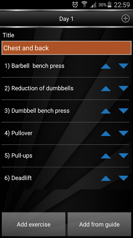Gym Book: training notebook*- screenshot