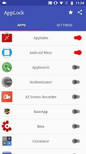 ApzLock - Fingerprint, Pattern, PIN lock for apps Screenshot