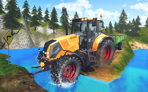 Tractor Driver Cargo 3D 2