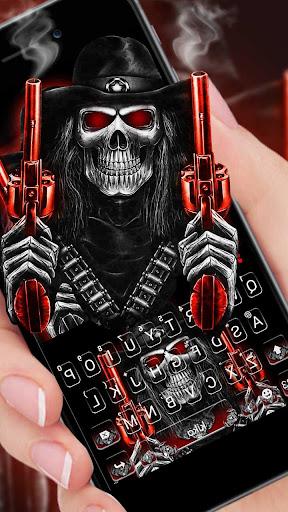 Skull Fire Guns Keyboard Theme 1.0 screenshots 1