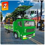 Cold Drinks Cargo Truck Icon