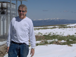 Photo: W4OV from florida, wondering how he ever got talked into coming to Idaho in June ? VHF contest 2007  w4ov  k0ip