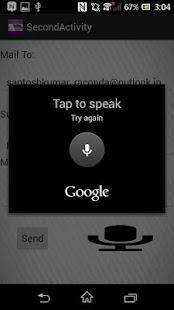 Voice base email screenshot