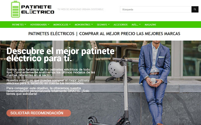 Patinete Eléctrico SHOP