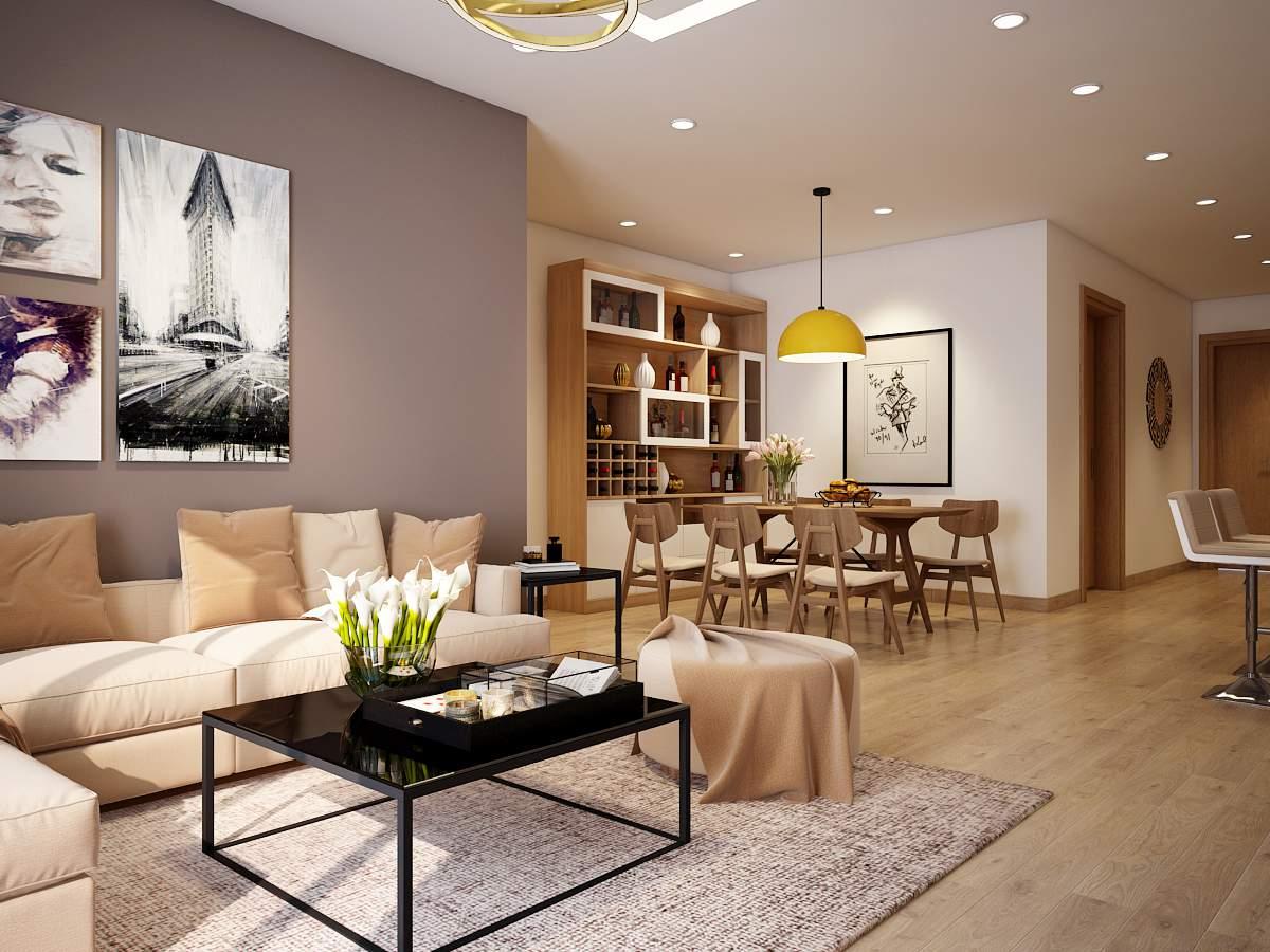 Thi công nội thất chung cư phong cách châu Âu