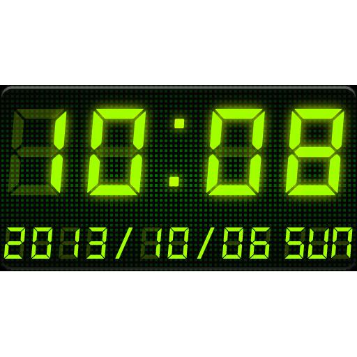 LED clock widget -Me Clock