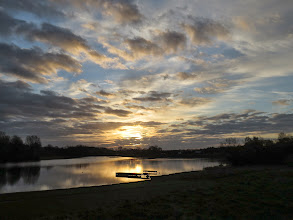 Photo: Priorslee Lake Today's sunrise: just about the best of the sun. (Ed Wilson)