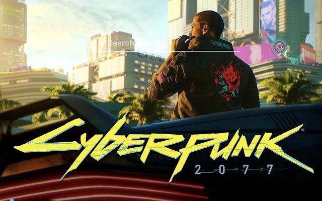 Cyberpunk 2077 HD Wallpaper Tab Theme