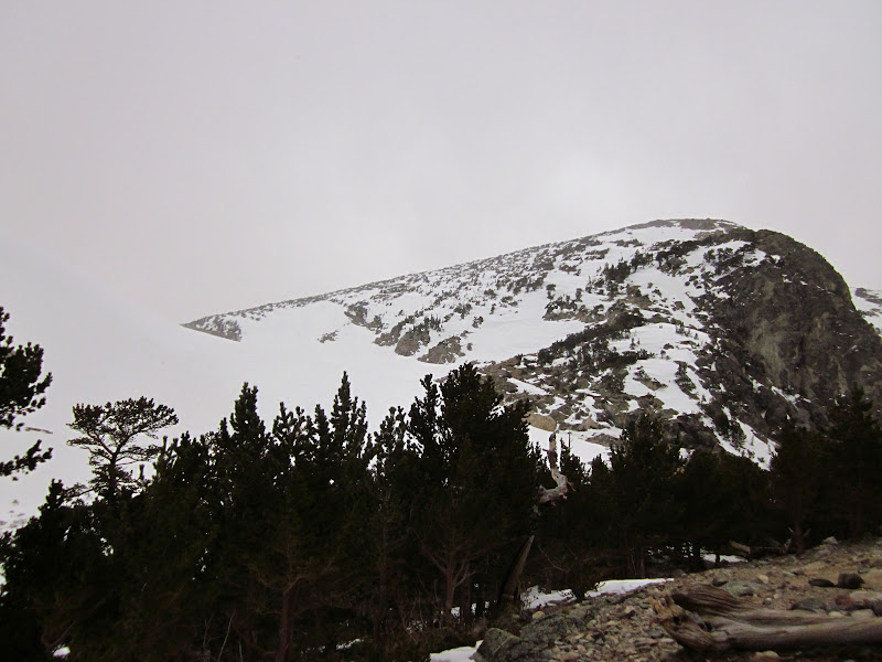 Photo: The route is the snowy hill on the left
