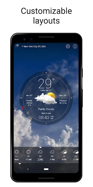 Weather Live Android App Screenshot