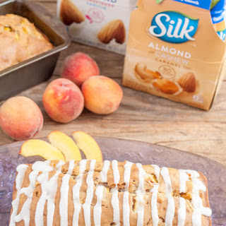 Peach Pecan Quick Bread with Caramel Glaze Recipe