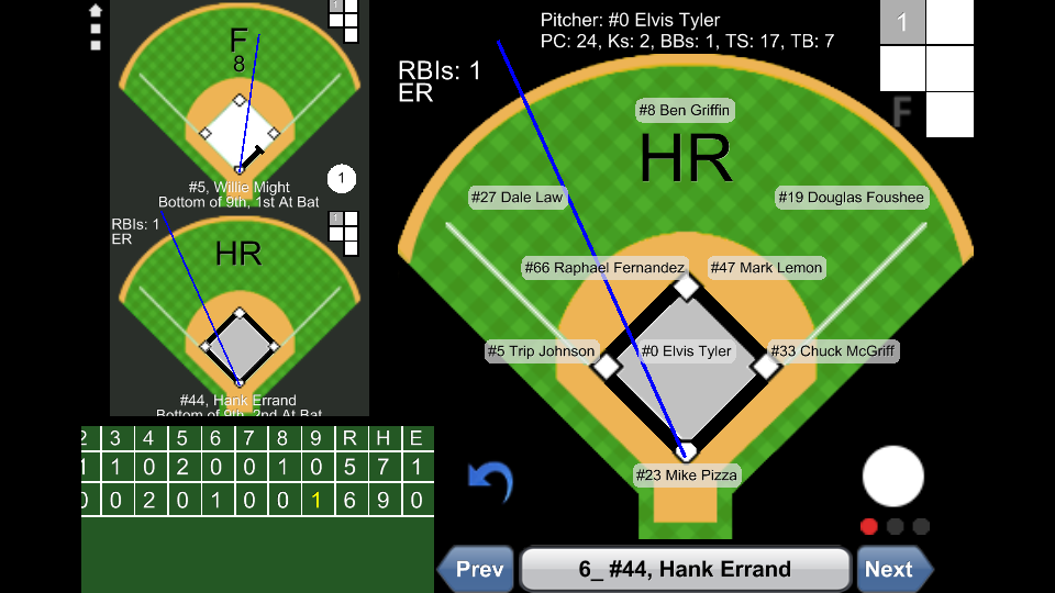 Baseball ScoreBook - Lite- screenshot