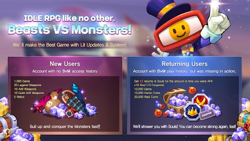 BEASTS VS MONSTERS - Idle RPG 2.5 screenshots 1