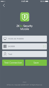ZKBioSecurity Mobile APP - náhled
