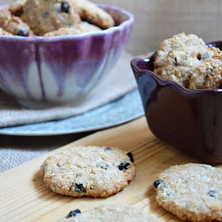 Oatmeal cookies, Coconut and Blueberries.