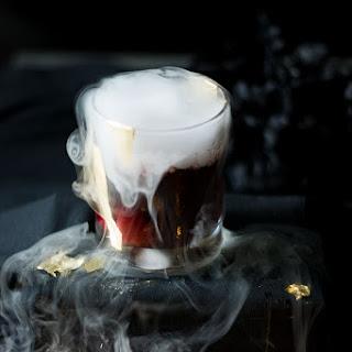 Vampire's Kiss Halloween Cocktail.